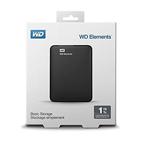 Western Digital WDBUZG0010BBK-EESN Elements Portable Festplatte, 1TB schwarz