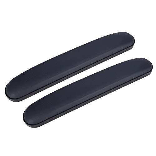 HEALLILY almohadillas de los brazos de silla de ruedas acolchada reemplazo apoyabrazos almohadilla de esponja codo para 2pcs de alivio de la silla de oficina antebrazo (largo)