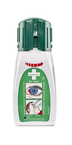 Cederroth ® | Augendusche für unterwegs | Die Augenspüllösung hat eine neutralisierende Wirkung bei Alkalien so dazu bei, den ph-Wert des Auges nach Unfällen wiederherzustellen | 235 ml