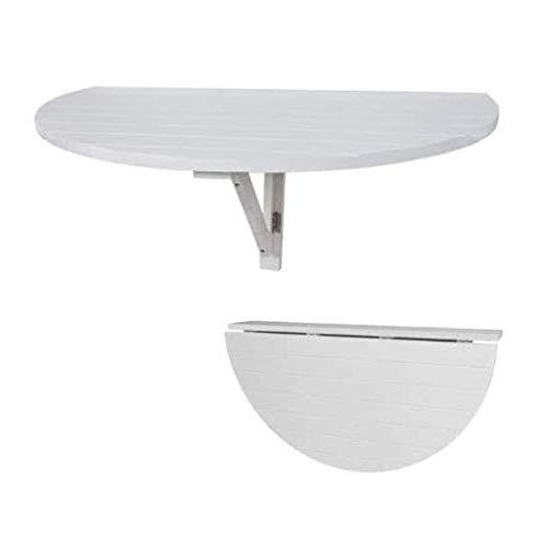 Máquina de Hoja de Gota Media Redonda de Pared, Estante Flotante Mesa Plegable Multifuncional Mesa Plegable Mesa de Cocina y Comedor, niños para pequeño Espacio (Color : Blanco)