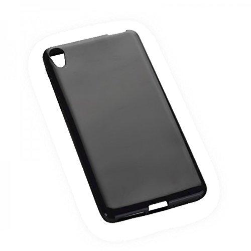 Dark Case Style - Silikon TPU Handy Cover Hülle Schale Kappe in Schwarz - für Sony Xperia E5 - Schutz Schutzhülle - (Bulk)
