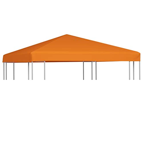 vidaXL Pavillon Abdeckung 310 g/m² 3x3m Orange Ersatzdach Partyzelt Plane