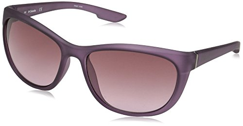 Columbia Women's Wildberry Cateye Sunglasses, Matte Eggplant, 58 mm