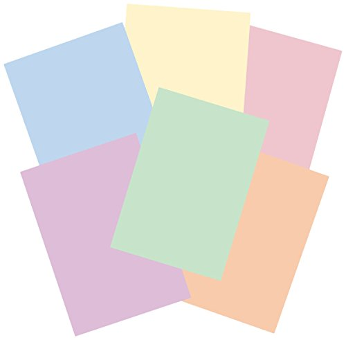 House of Card & Paper Rainbow - Cartulinas (A4, 160 g/m², 50 unidades), color pastel