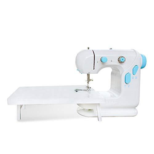 Máquina de coser del hogar Ajuste de la velocidad mesa portátil ropa mini máquina de coser del hogar del coche eléctrico con la expansión Máquinas de coser ( Color : Azul , Size : 24.5X12.5X22.5CM )