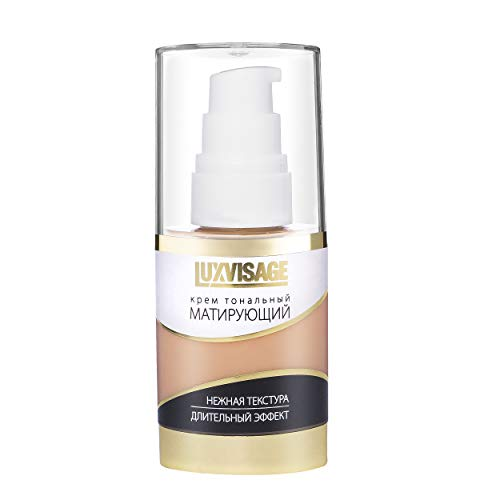 Luxvisage Long-Lasting Mattifying Correcting 6 Colors Makeup Foundation for Oily, Combination and Normal Skin Types (color 4 natural)