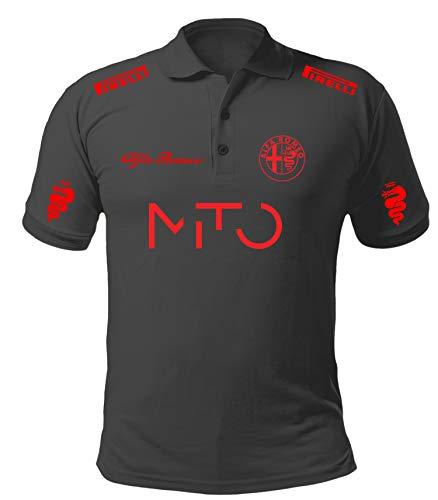 Poloshirt Polo alfa Romeo mito Stil Rally Auto Racing Sport Poloshirts Shirt ALP01 (S)