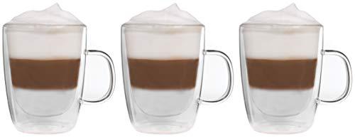 Snobby Feelino Lot de 3 tasses à double paroi 450 ml