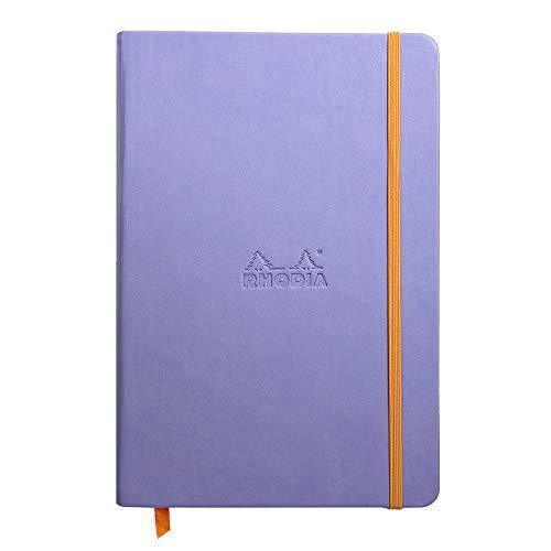 Rhodia Rhodiarama Webnotebook - Blank 96 sheets - 5 1/2 x 8 1/4 - Iris Cover
