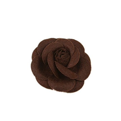 Toporchid Rosen Blumen Haarnadel Haarblume Clip Blumen Pin Up Blumen Brosche (Kaffee)