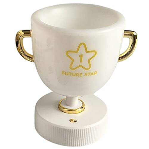 QiKun-Home Creativo Pen Cup Lámpara de Mesa Amarillo Luz cálida Almacenamiento Control Remoto Lámpara de Escritorio Lámpara de Lectura de Escritorio Lámpara de Aprendizaje Blanco Amarillo luz cálida