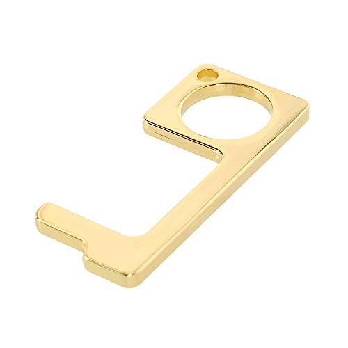 CTM Berührungsloser Türöffner und Knopfdruck-Schlüsselanhänger. Gr. Einheitsgröße, gold