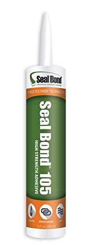 Seal Bond 105 Black - Marine/Industrial Adhesive Sealant - 10.1 oz Cartridge