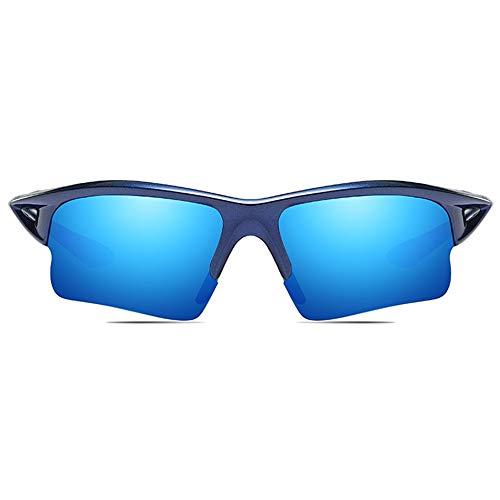 DKee Ciclismo Deportivo Al Aire Libre PC Material Gafas De Sol Azules/Blancas Hombres Y Mujeres con Gafas De Sol Polarizadas Antirreflejos De Conducción Gafas de Sol (Color : Blue)