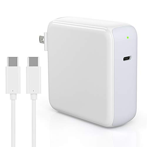Replacement Mac Book Pro Charger - ZeaLife 87W USB-C Charger Power Adapter with 5A 6.6ft USB C to C Cable for MacBook Pro 15/13 Inch, MacBook 12 Inch, MacBook Air, iPad Pro 2018 2019 [LED Indicator]