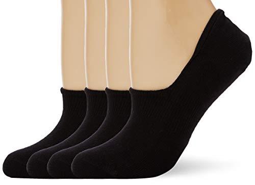 Camano Damen 4420000 Füßlinge, Schwarz (05 Black 9999), (Herstellergröße:39/42) (4er Pack)