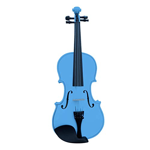 BaoYPP Violín Eléctrico Instrumento Violín Azul de Madera Hecho a Mano Que...