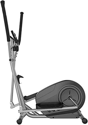 Bicicleta elíptica multifunción Control magnético Magnético Fitness Entrenador Cross Elíptica Máquina Ejercicio Bicicleta Fitness Walker Space Fitness Equipos con Pantalla LCD-Negro