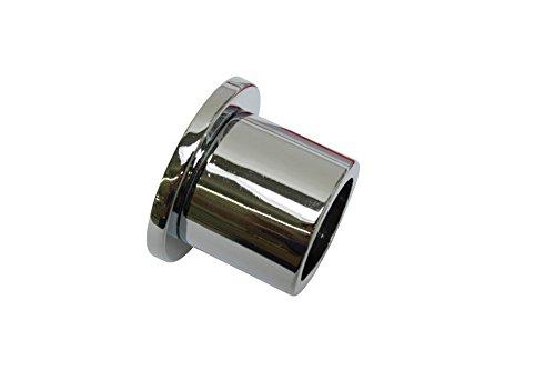 GARDINIA Wandlager für Gardinenstangen mit Durchmesser 20 mm, Inklusive Befestigungsmaterial, Wandmontage, Metall, Chrom