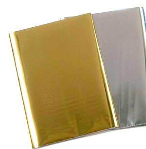 CCR8012184 Wachsplatte 80x220mm 1 Stk, Metallic gold glänzend