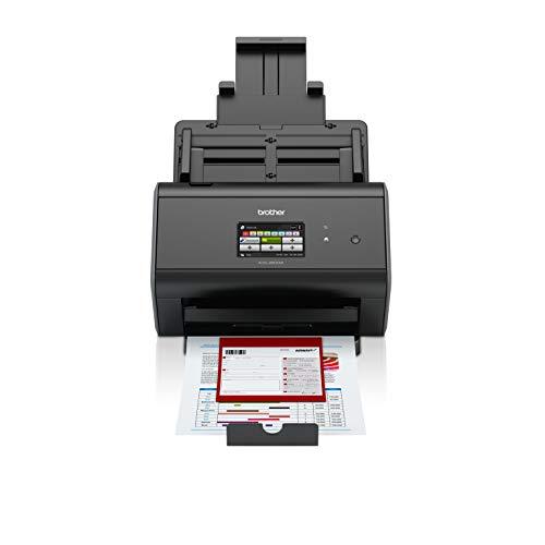 Brother ADS2800W - Escáner departamental de alta velocidad (doble cara automático, pantalla táctil, tarjeta de red, WiFi)