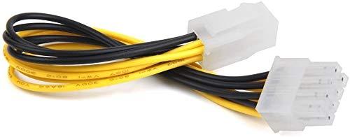 Jilibaba ATX 4 Pin macho - poder femenino de la CPU del adaptador del cable de alimentación del Pin del EPS 8