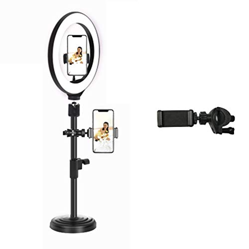 laoonl LED Ring Light with Tripod Round Stand, Cell Phone Remote Camera Holder, Makeup Selfie Ring Light for Live Stream Photography Makeup