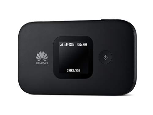 HUAWEI E5577-320 WIR-Hotspot (4G/LTE bis zu 150Mbit/s Download/ 50Mbit/s Upload, Hotspot, Cat4, 1500mAh Akku, LCD Display, kompatibel mit europäischen SIM Karten) schwarz