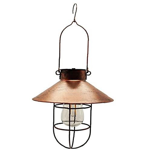 Ohomr Lanterne Solaire extérieure suspendue Lumière extérieure suspendue Lanterne LED étanche Vintage Tungstène Décoration pour Jardin Patio