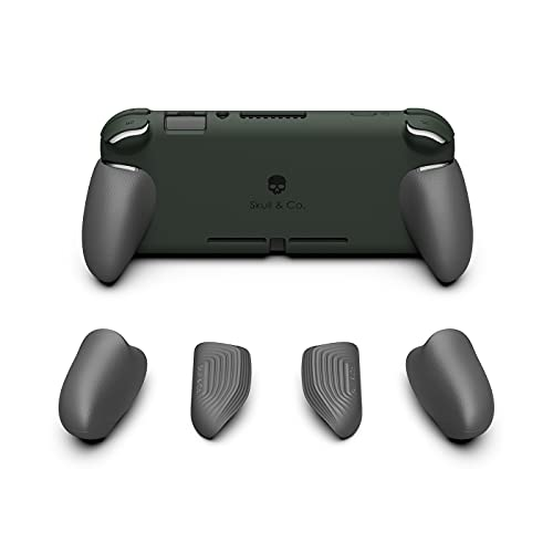 Skull & Co. GripCase Lite: A Comfortable Protective Case with Replaceable Grips [to fit All Hands Sizes] for Nintendo Switch Lite [No Carrying Case]- Dark Green