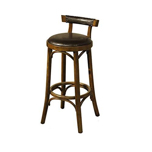 BAR STOOL GCX- Tabourets hauts rétro industriels pour café/thé/salon de thé contre le mur, tabourets hauts, tables et chaises durables (dimensions : 40 x 40 x 89 cm)