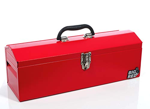 Torin Big Red 19' Portable Steel Tool Box with Removable Tray, Red