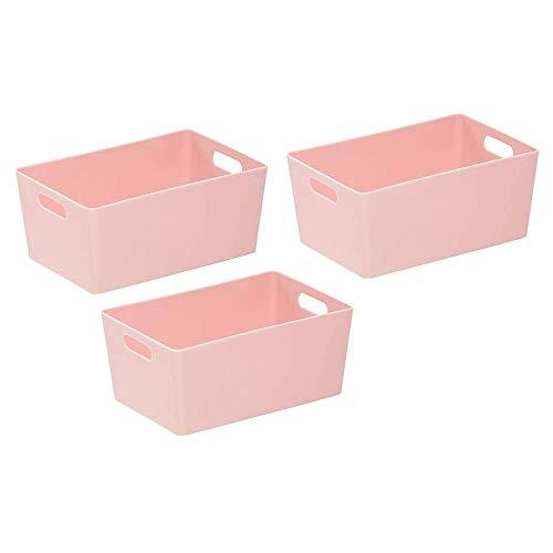 Wham Bam 4.02 - Cestas de almacenamiento para estudio (plástico, 25,5 x 17 x 11 cm), color rosa
