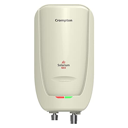 Crompton Solarium Neo 3-Litre, 3KW Instant Water Heater/Geyser with Rust Free ABS Body (Ivory)