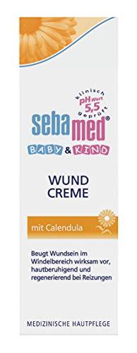 Sebamed Baby & Kind Wundcreme mit Calendula 75 ml, beugt Wundsein im Windelbereich wirksam vor, hautberuhigend und regenerierend bei Reizungen