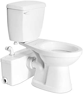 Bundle-12 Elongated Toilet with Saniplus (5 Pieces) Finish: White