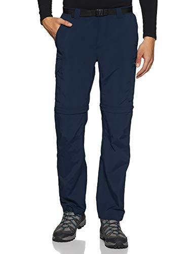 Columbia Silver Ridge - Pantalón Convertible para Hombre, 91,4 cm, para Hombre, extendido, Silver Ridge - Pantalón Convertible, 1441675, Azul Marino, 42x30 B&T