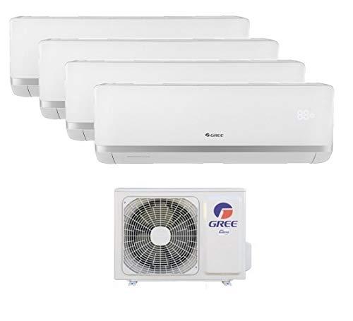 Climatizzatore inverter quadri split BORA 9+9+12+12 GREE refrigerante R32 classe A++ A+