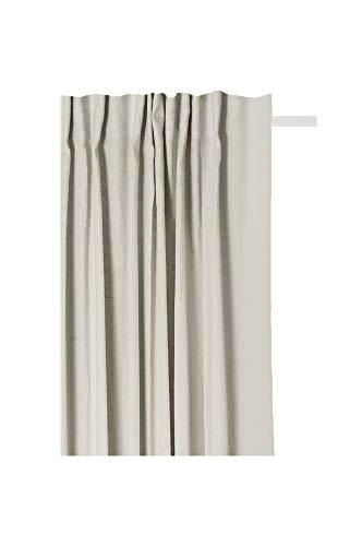 Himla Vorhang Sunshine Fertiggardine 140x290 cm mit Faltenband & Tunnel - Vorhangschal für Gardinenstange oder Deckenschiene - 100% Leinen - Farbe: Chalk - Grau - div. Farben