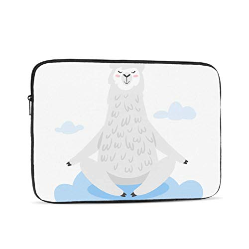 MacBook Air Case Cartoon Humorous Alpaca Llama MacBook Pro Protector Multi-Color & Size Choices10/12/13/15/17 Inch Computer Tablet Briefcase Carrying Bag