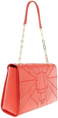 Roberto Cavalli Class Elisabeth Coral Medium Shoulder Bag for Womens