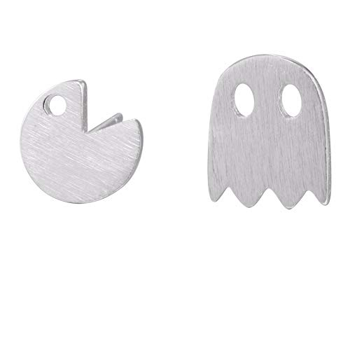 Chandria's Treasures Retro Pacman Ghost Stud Earrings