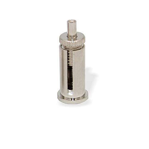 Befestigungsset M8x1 mit Schlitz und Drahtseilhalter/Gripper, für Drahtseile bis Ø1,2mm, Deckenbefestiger, Drahtseilhalter, vernickelt