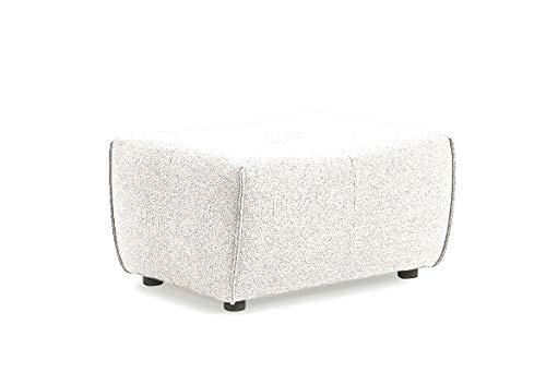 Muebletmoi - Puf módulo para sofá compostable, tejido blanco y beis, diseño contemporáneo, origami