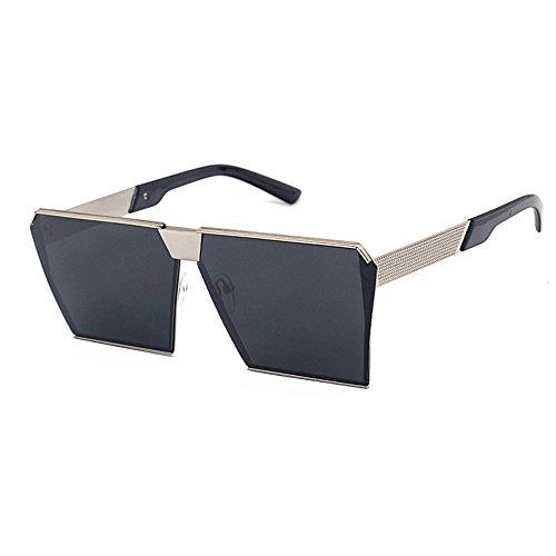 VeBrellen Occhiali da sole oversize degli occhiali da sole degli uomini gotici Occhiali di protezione del metallo quadrato degli occhiali di retro