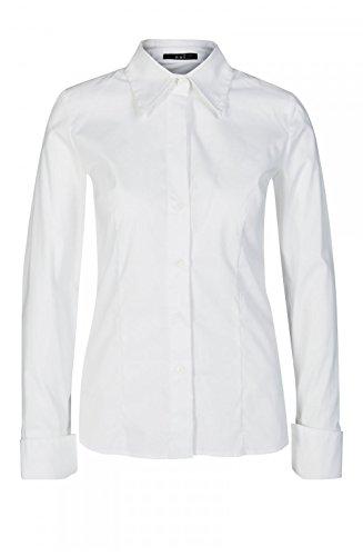 Oui Damen 22564 Bluse, weiß, 46
