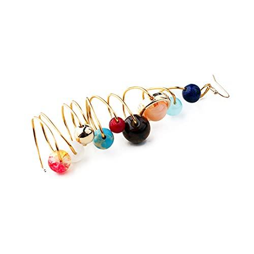 Pendientes de sistema solar hechos a mano con diseño de universo galaxia, sol y planetas, pendientes colgantes para mujer