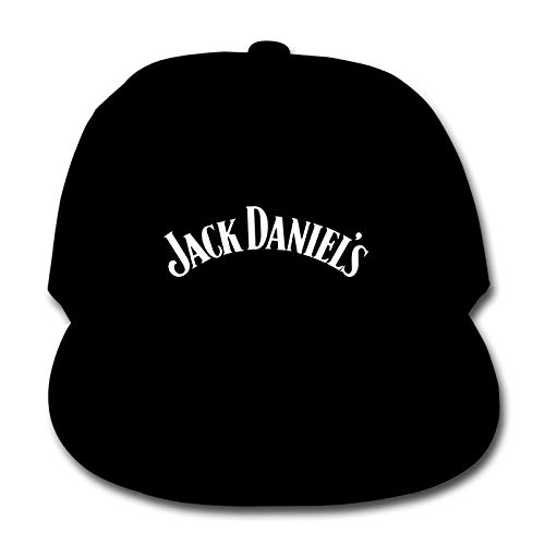 Ja-Ck Daniels Outdoor Children's Kids Baseball Cap Casual Flat Hat - Adjustable Sun Hat for Kids Boys Girls 19.69-21.25 in Black