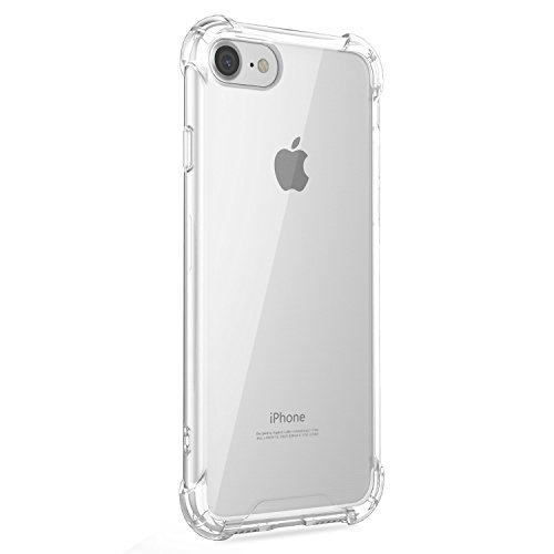 Funda iPhone 7 Carcasa Silicona Transparente Protector TPU Airbag Anti-Choque Ultra-Delgado Anti-arañazos Case para Teléfono Apple iPhone 7 Plus Caso Caja (iPhone 7, Patrón 07)
