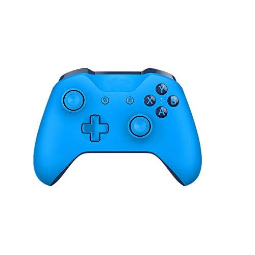 HUDEMR Gamepads Blanc Gamepad Game Controller Gamepad sans Fil Peut être utilisé for Ordinateur Mobile Noir Bleu Blanc contrôleur Joystick (Color : Blue, Size : 18.1x17.5x7.08cm)